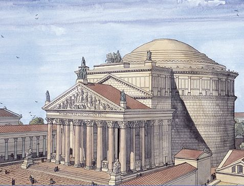 Artist's concept of the Pantheon as it appeared in Hadrian's reign