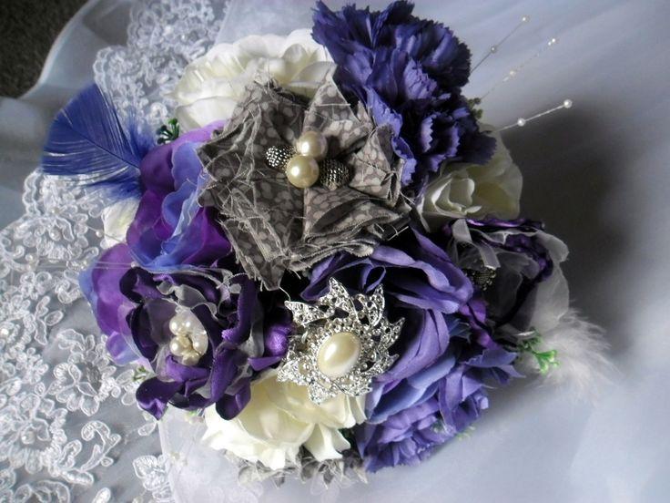 Gorgeous Purple Brooch Bouquet, AU$85.00
