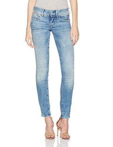 the latest d7d4a b07a4 G-STAR RAW RAW Damen Jeans Lynn Mid Skinny Wmn Blau (Lt Aged ...