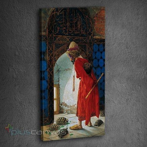 Ünlü tablocu Osman Hamdi Bey, Kablumbağa Terbiyecisi ile ününü sınırların ötesine taşıdı.