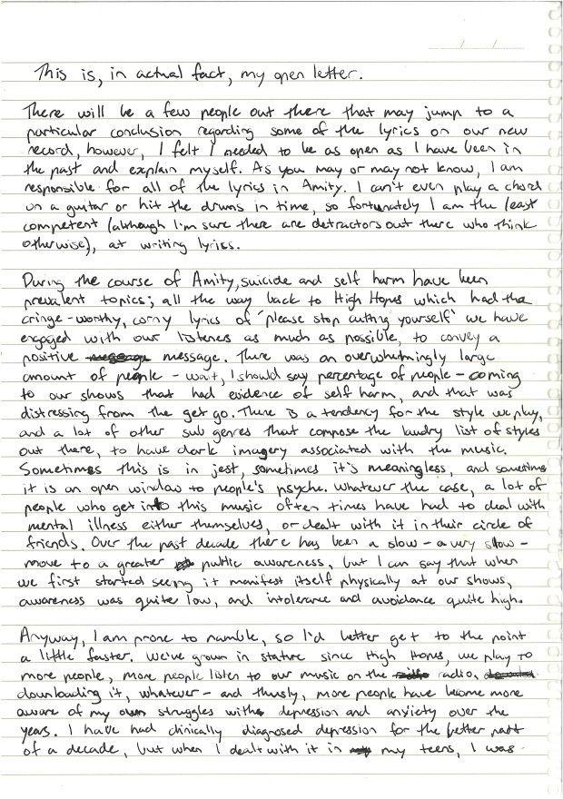 Lyric lean on me with lyrics : 13 best the amity affliction images on Pinterest | Lyrics, Music ...