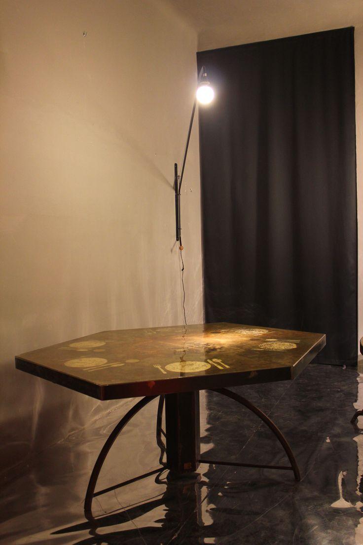 "Carlo Trucchi. The best. KAGADATO selection. **********************""Apparecchiato per Sei"", 2015, Italy.  #erastudioapartmentgallery #erastudio #designgallery #collectibledesign #design #gallery #milan #italy #igersmilano #carlotrucchi #table #resin #wood #glass #uniquepiece #agedbrass #brass #apartmentgallery #apartment #ambience #places #placetobe #apparecchiatopesei #details #artwork #handmade #contemporary #interior #italiandesign #craftmanship #plates #madeinitaly #exhibition…"