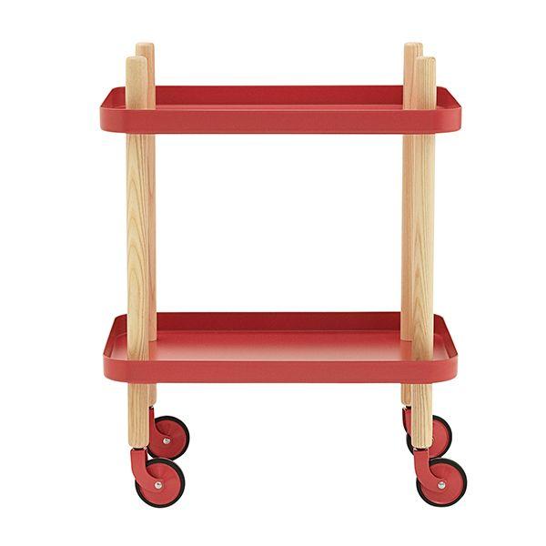 Block tarjoiluvaunu, punainen