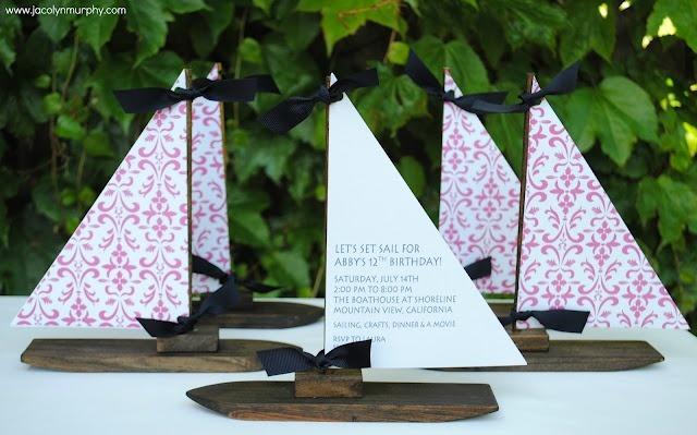 sailboat invitations: Cards Ideas, Birthday Parties, Cute Ideas, Parties Ideas, Girls Birthday, Entertainment Ideas, Nautical Parties, Girls Nautical Birthday Theme, Nautical Cards