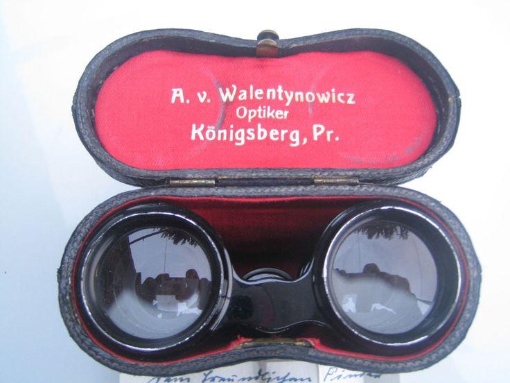 Altes Opernglas  in Leder Tasche aus Königsberg,Ostpreußen
