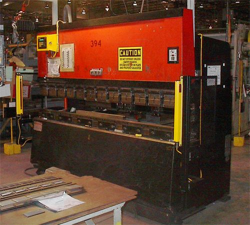 ISB MX Light Curtain mounted on an Amada press brake