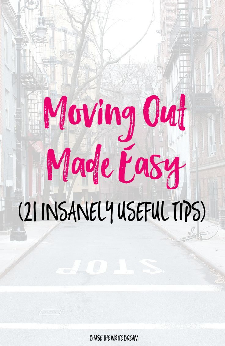 Moving Out Made Easy - Leaving for college? Getting your own apartment? Follow these moving tips to save you time and money! via /thewritedream/