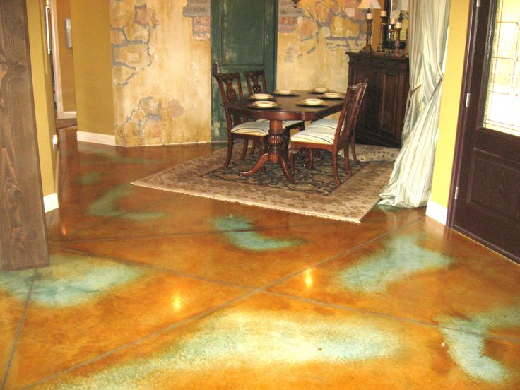 Acid Etching Concrete Stain | Acid staining & concrete dyes, Artistry Underfoot