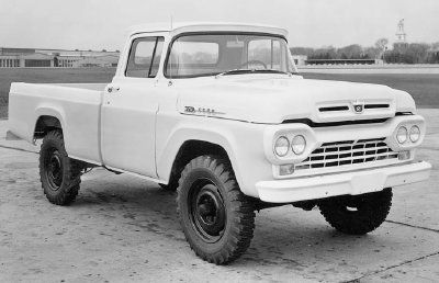 een oude ford truck