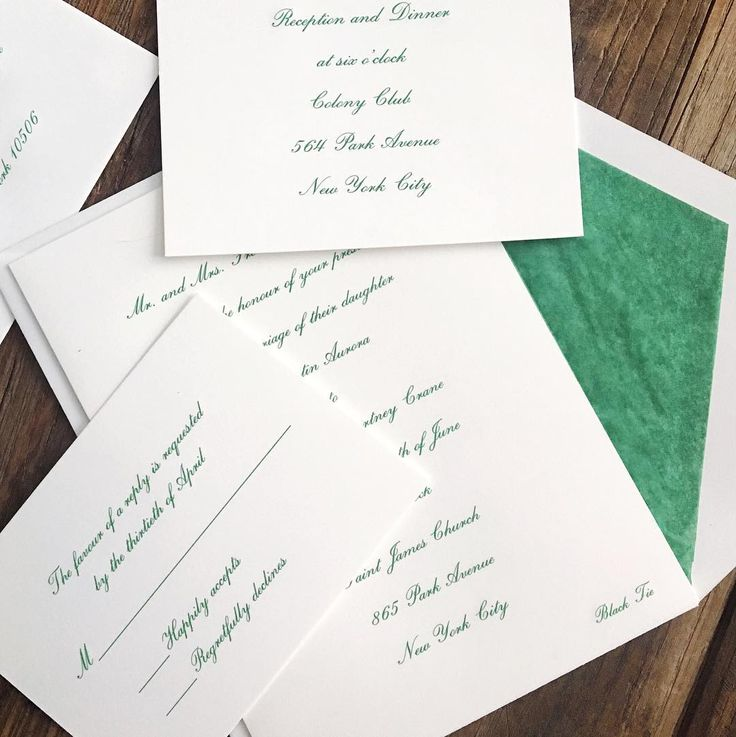 custom wedding invitations new york city%0A A fitting touch of green for St  Patrick u    s Day with this striking emerald  and white