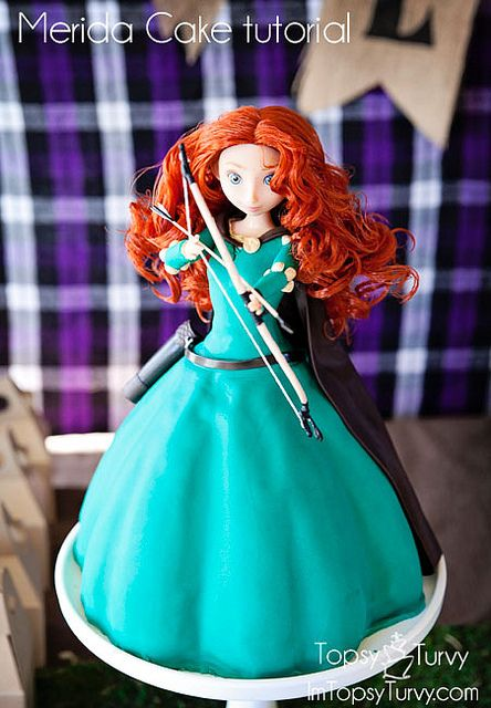 Disney's Merida cake tutorial - may be the coolest cake I've ever seen.
