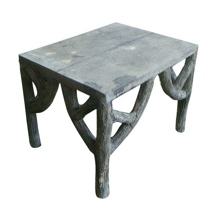 Faux Bois Garden Table