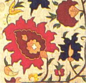 Ottoman Textiles: A Silk Embroidered Ottoman Curtain, Anatolia, 18th Century