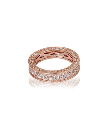 This Cubic Zirconia & Rose Gold Eternity Ring is perfect! #zulilyfinds