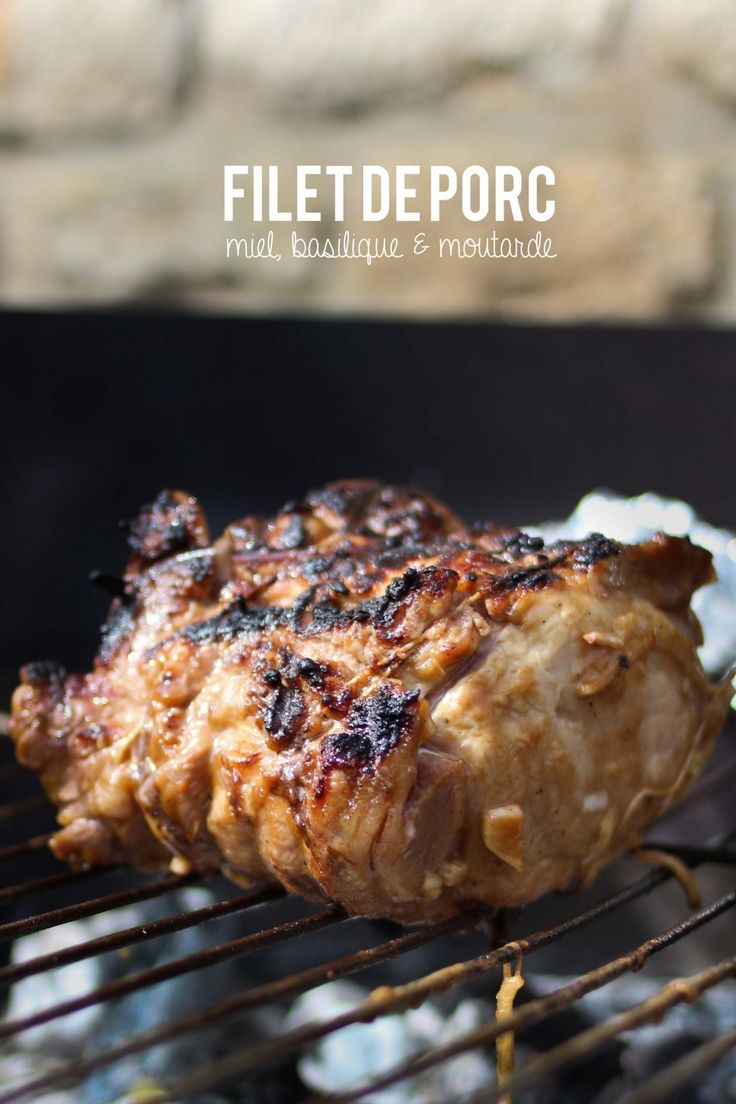 Filet de porc au miel, balsamique & moutarde – Epices Malices