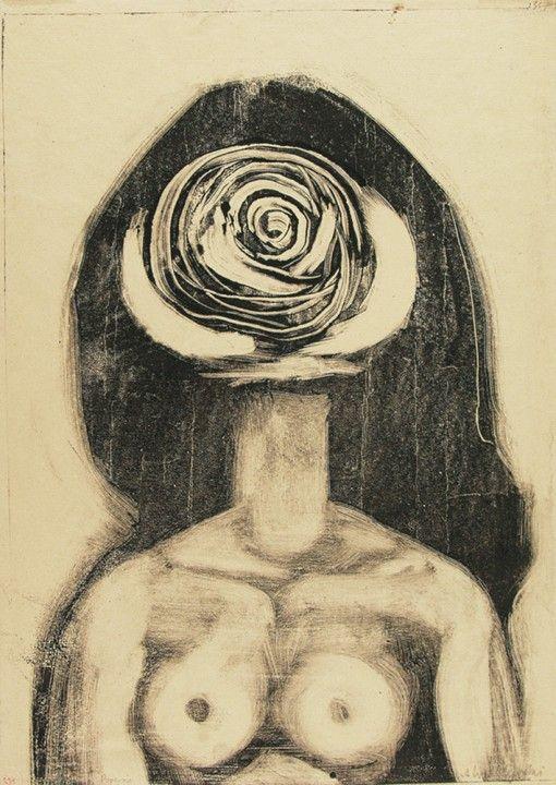 Bust by Andrzej Wróblewski 1957