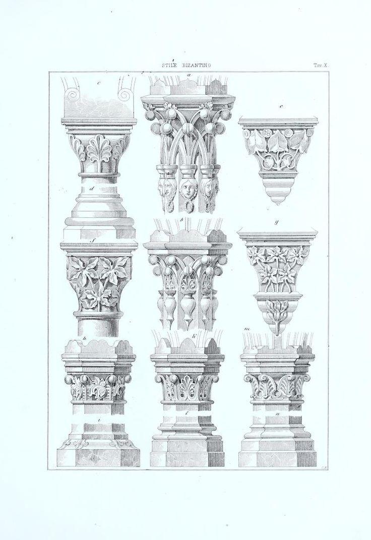 1859 - Raccolta de' migliori ornamenti del medio evo e profili di architettura gotica : disegnati e descritti - by Heideloff, Carl Alexander von
