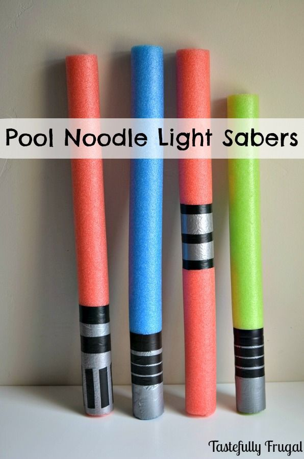 Pool Noodle Light Sabers: A must have for any Star Wars party!
