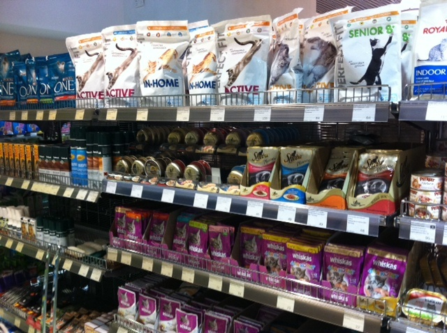 Premium pet food brands in Metro Supermarket, Moscow (2012)