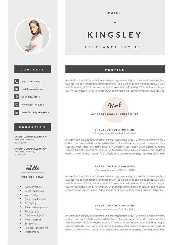 Modern Resume Template Cv Template Professional And Creative Resume Teacher Resume Word Resume Instant Download Modele De Cv Moderne Modele Cv Cv Moderne