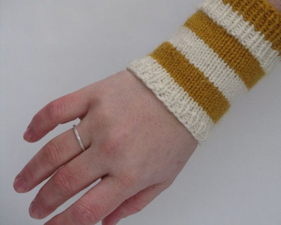 Knitted Wrist Warmers White Yellow Wool Alpaca by AGirlNamedMariaDK on Etsy #wrist #warmer #fignerless #glove #gloves #mitten #mittens #wool #alpaca #knit #knitted #knitting #knitwear #accessories #winter #accessory #fall #autumn #warm #etsy #agirlnamedmariadk #gift #idea #gifts #women #woman #womens #stripes #striped #stripe #yellow #mustard #white #fisherman #offwhite