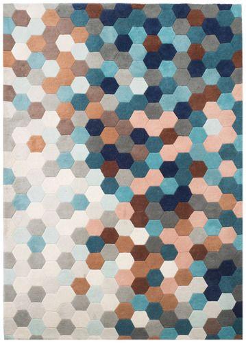 'URBN Petrol Blue Kaleidoscope Rug by MODLOFT. @2Modern'