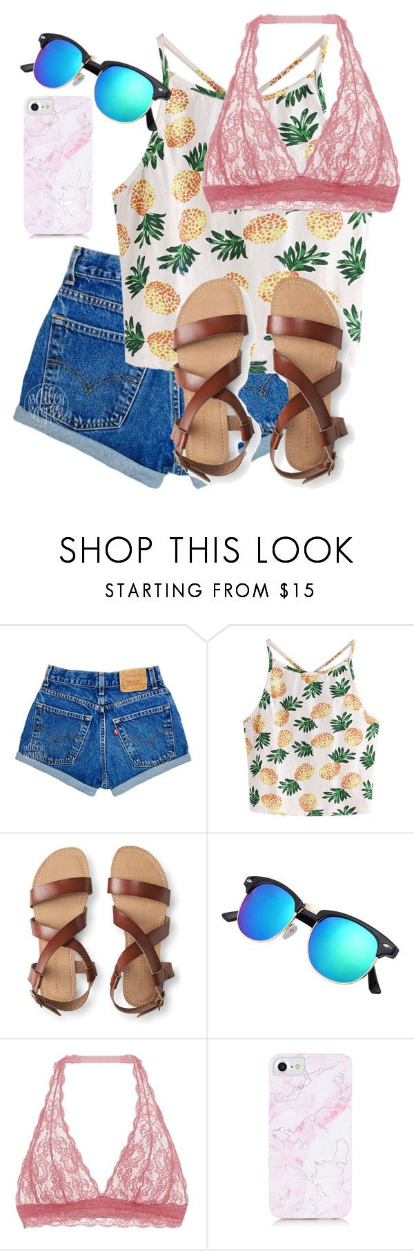 """What Should I Wear Today?"" by madisoncorell ❤ liked on Polyvore featuring WithChic, Aéropostale and Cosabella"
