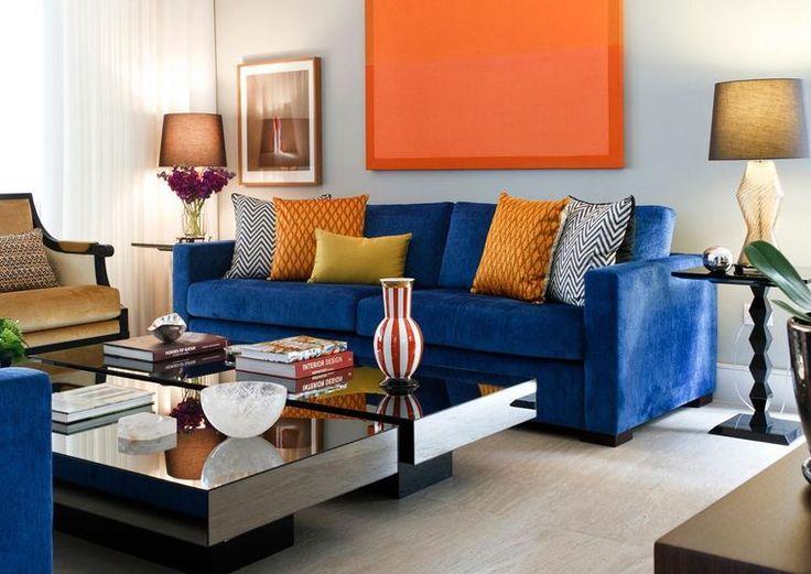 Sala De Estar Com Laranja ~ Cores complementares O Azul e laranja são harmonizados na
