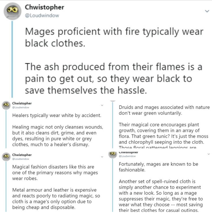 Tbh if I was a fire mage I'd probably wear white clothes but make sure the frabic is easy to wash- wearing black will make it super hot since black absorbs the most heat