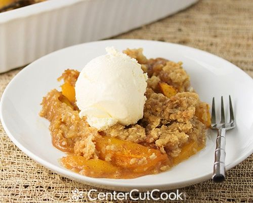 Fresh peach crisp.  Mouth watering.........