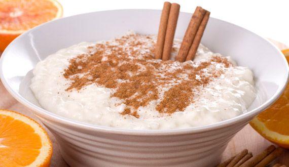 Delicioso arroz con leche y canela