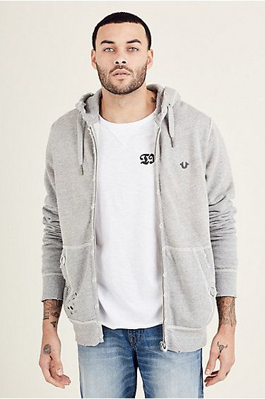 For those fashion conscious guys out there, this True Religion Brand Jeans Raw Edge Zip Hoodie is perfectly designed for that street cred http://www.fashion.ie/raw-edge-zip-hoodie/