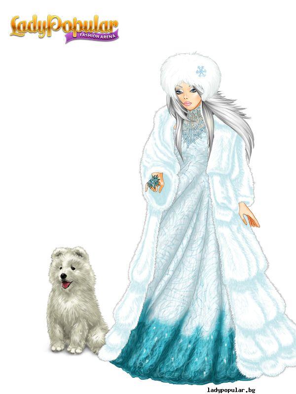 Theodora - Samoyed   Animal unic (cu timp limitat de cumpărare) în joc: Cățel alb pufos.