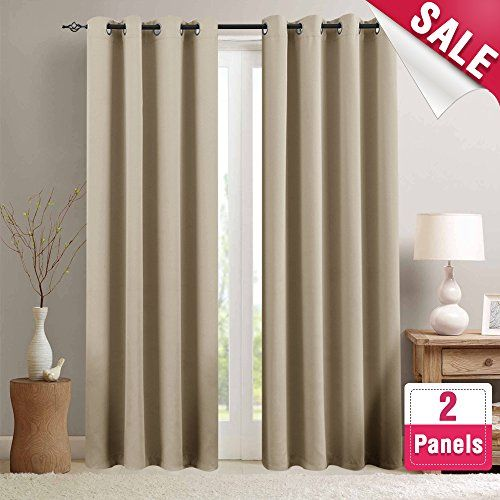 Moderate Blackout Curtains for Living Room 84 inch Length Bedroom Window Curtains Triple Weave Room Darkening Curtain Panels Thermal Insulated Grommet Top Drapes, Taupe, 1 Pair #Moderate #Blackout #Curtains #Living #Room #inch #Length #Bedroom #Window #Triple #Weave #Darkening #Curtain #Panels #Thermal #Insulated #Grommet #Drapes, #Taupe, #Pair