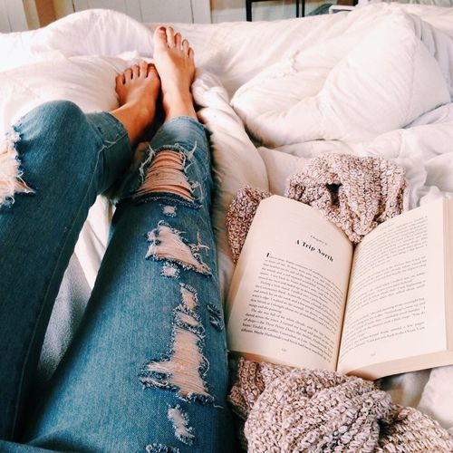 book, jeans