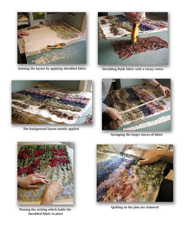 Shredded Quilt Technique