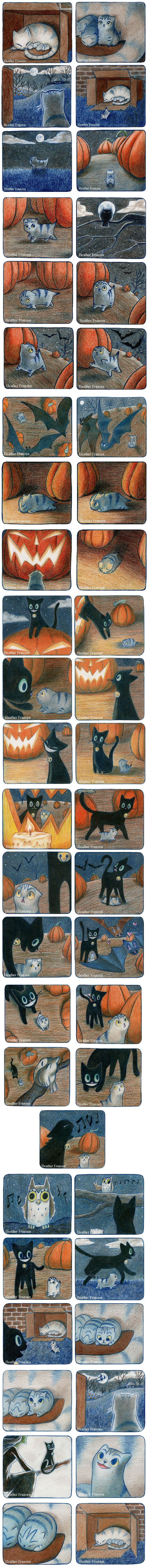A Cat Story, thing are not always as scary as they seem and sometimes it takes a friend to realize that.