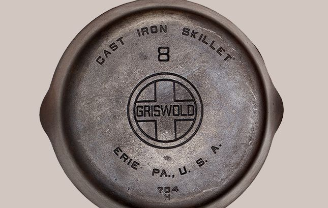 Oude gietijzeren pannen gerestaureerd door Best Made Co.