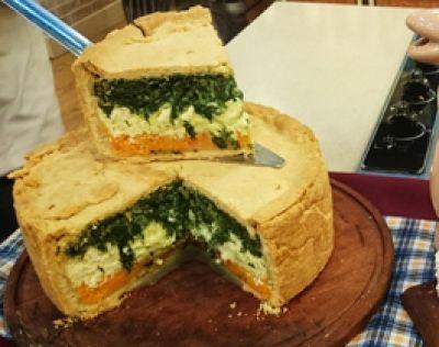 Tarta tricolor de calabaza, espinaca y ricota - Recetas – Cocineros Argentinos