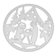 Álbum de recortes de Metal De Corte Muere Feliz Navidad Tarjeta De Papel cartón padres fresco lindo Plantillas DIY Álbum 2017 Precioso 17aug4(China (Mainland))