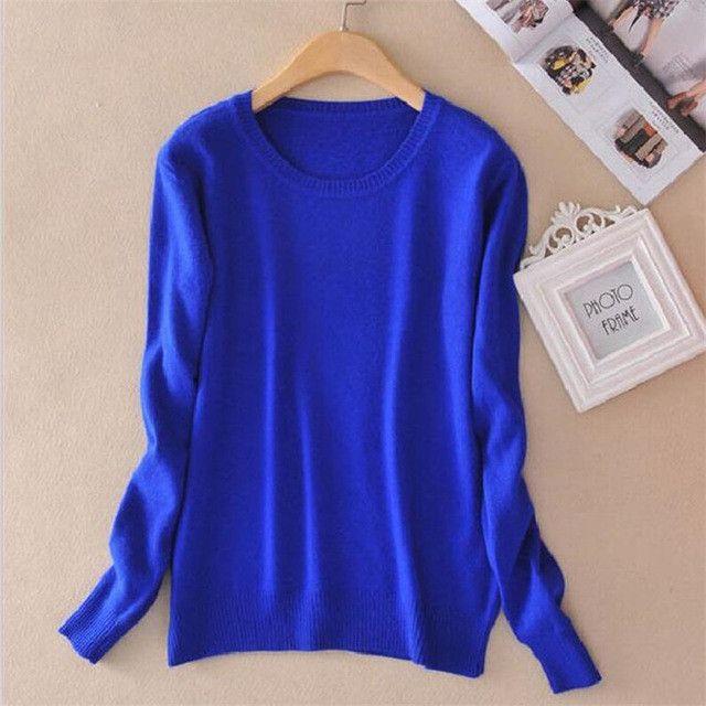 Kuk 16 Color Pullover Feminino Ladies Jumper Warm Autumn Winter Knitwear Pull Femme Wool Cashmere Sweater Women A228