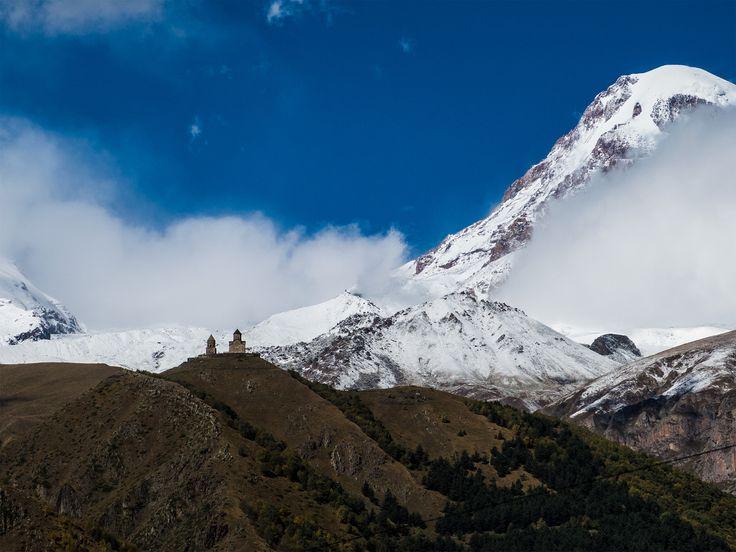 Gruzja, z widokiem na Kazbek