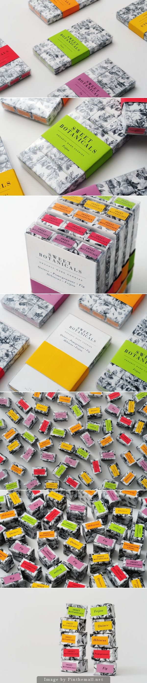 Sweet Botanicals organic hard candy in color coded packaging PD