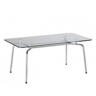 De moderne glazen tafel Hello duo zorgt voor een chique uitstraling en kan overal geplaatst worden. De tafel is voorzien van een stevig blad en een fraai chromen frame en poten.