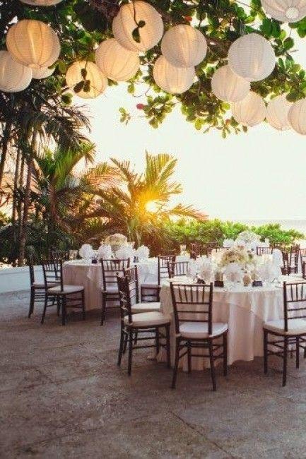 Décoration pour un mariage à la plage