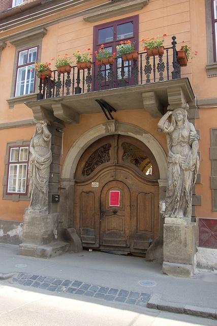 Sibiu door, Romania  http://www.flickr.com/photos/quinet/6861436659/in/pool-52239735206@N01/