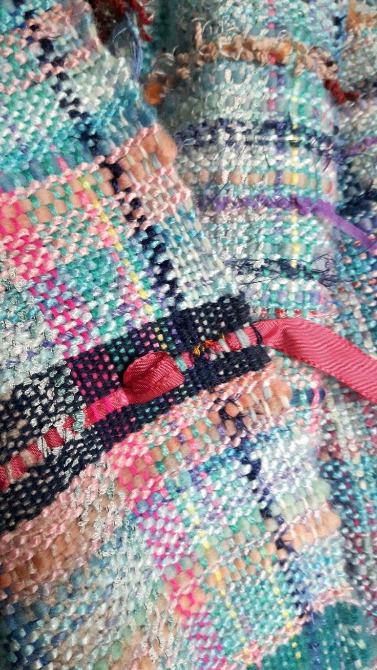 Sari scarf. Handwoven.