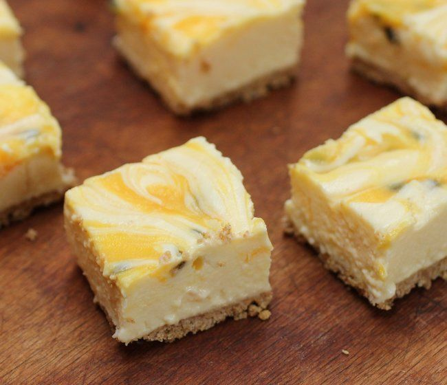 Passion Fruit Lemon No-Bake Cheesecake with Brown Butter Crust by ...