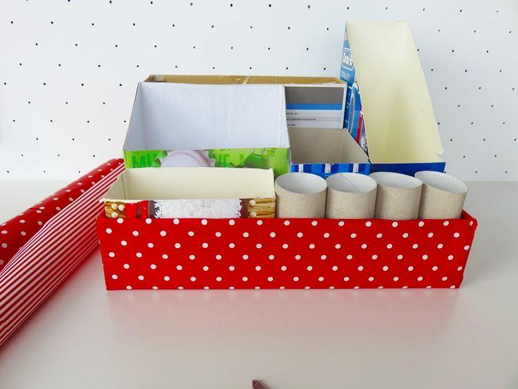 organizer z pudełek