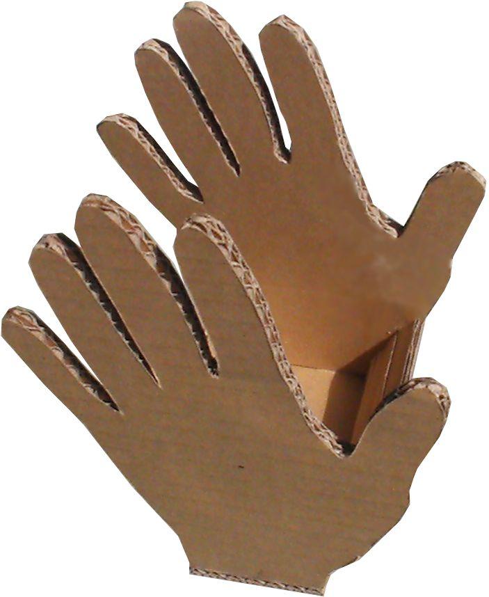 Boites en forme de main